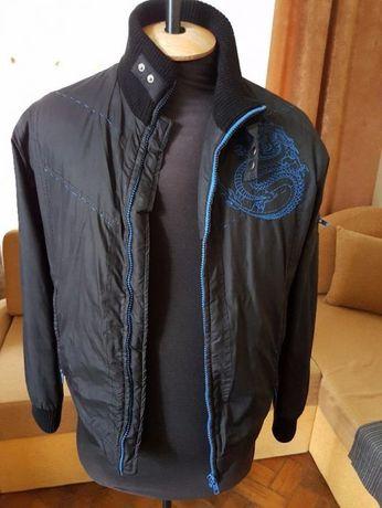 Куртка осенняя, утепленная, черная, р. 46