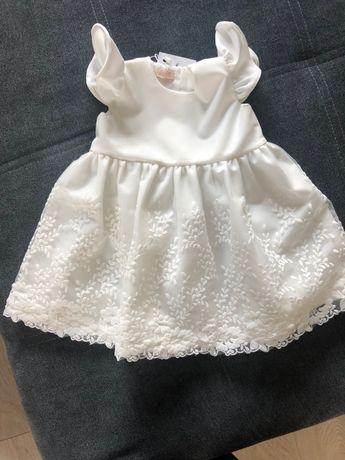 Sukienka na chrzest Ma Lini Alessia r.62 + bolerko mayoral