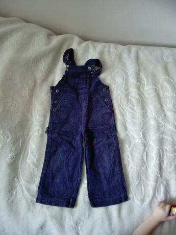 Spodnie sztruksowe ogrodniczki cool club 92