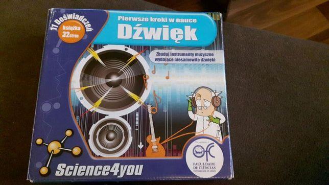 Pierwsze kroki w nauce Dźwięk Science4you 11 doświadczeń eksperymenty