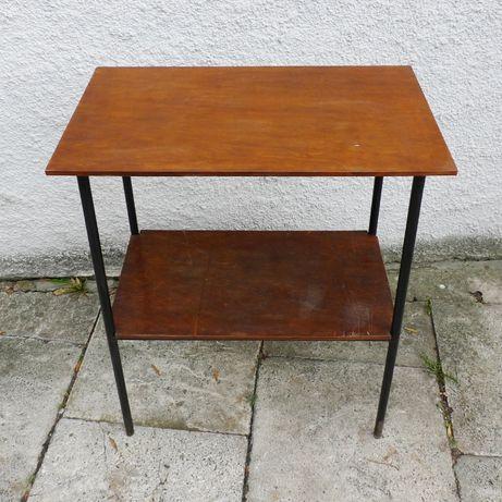Minimalistyczny stolik rtv lata 60 prl, vintage, loft