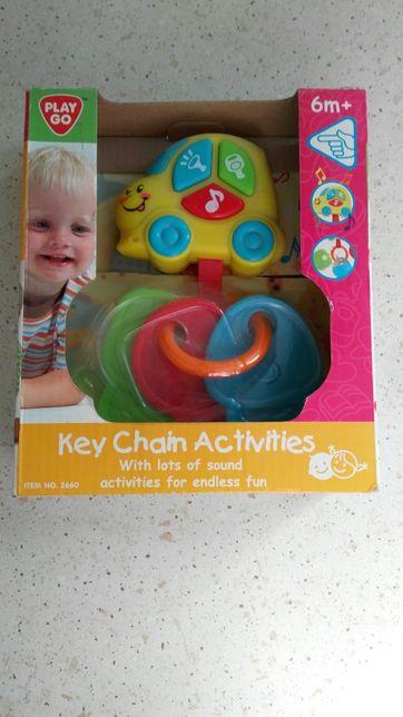 Игрушка 0+ для малышей развивающая музыкальная машинка ключики
