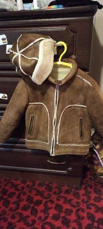 Куртка и шапка ушанка