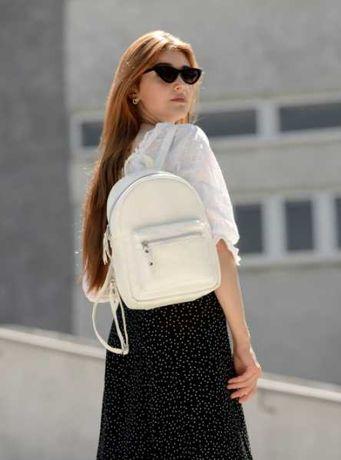 Белый рюкзак белый повседневный, городской, школьный, подростковый