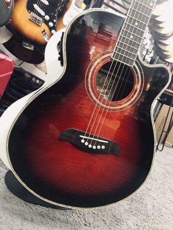 Washburn Oscar Schmidt gitara elektroakustyczna czerwona sklep CMUSIC