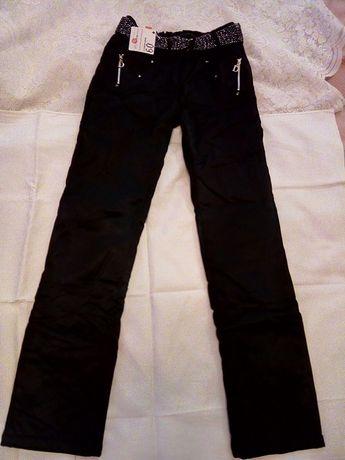 брюки джинсы штаны утепленные на флизе для девочки новые
