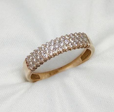 """Золотое кольцо 585""""  с камнями"""