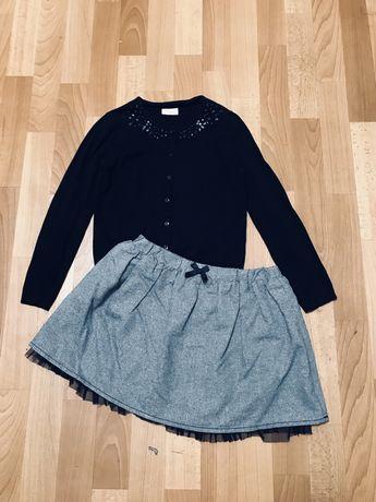 Школьные юбки серые