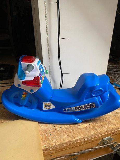 Bujak, motor policja,huśtawka zabawka interaktywna