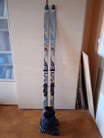 Zestaw narciarski: narty + wiązania + buty + torba