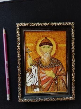 Картина (икона) из янтаря