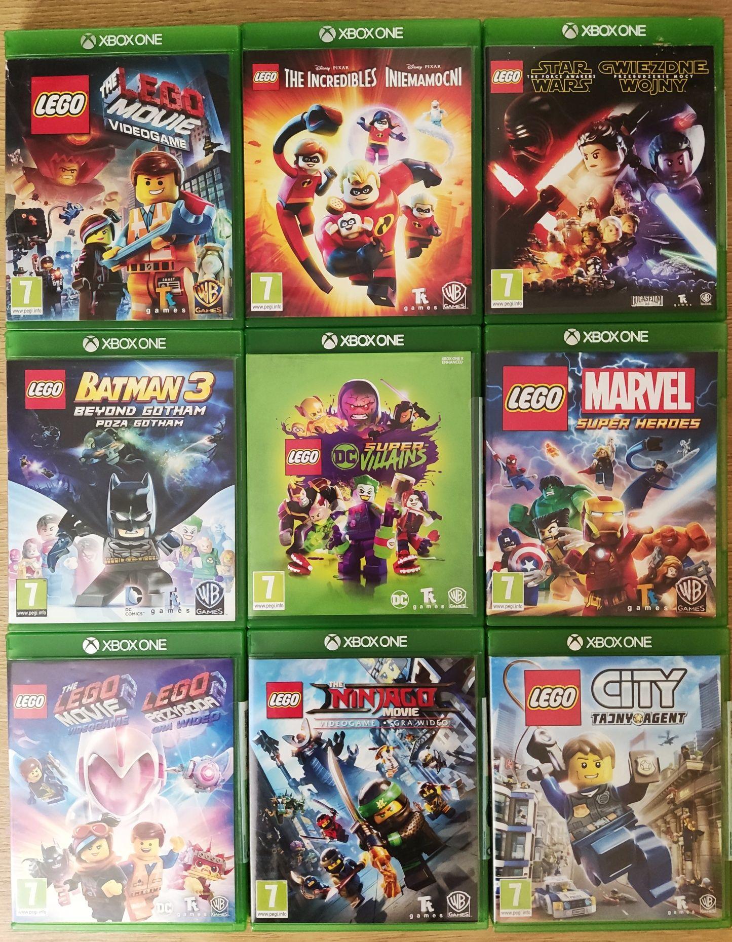 Gry Xbox one LEGO Batman Przygoda Iniemamocni Marvel Star Wars Ninjago