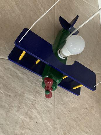 Massive lampa samolot do pokoju dziecięcego