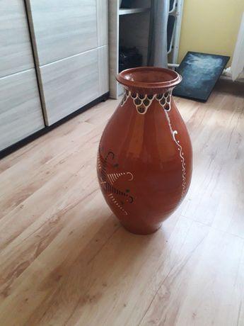 Wazon brązowy porcelanowy