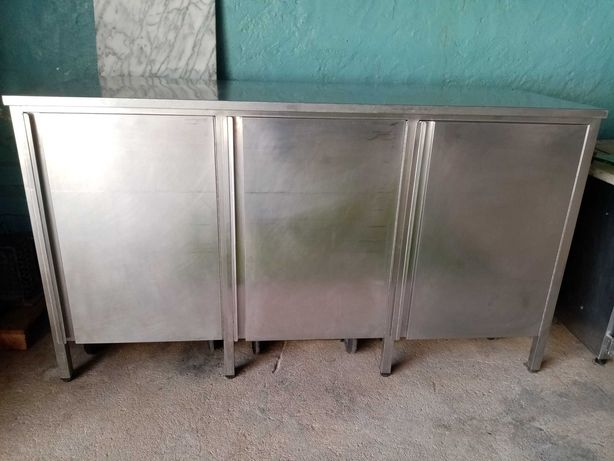 Armário Inox p/ 3 caixotes de lixo ACM150 - Usado