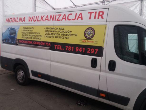 Mobilna wulkanizacja ciężarowych TIR mobilna mechanika dowóz paliwa