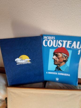 A Odisseia Submarina/Jacques Cousteau. 32 DVDs.