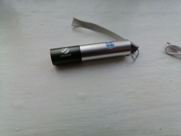 Мощный светодиодный аккумуляторный USB фонарь Shustar