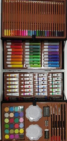Набор для рисования в алюминиевом чемоданчике 145 предметов Единорог Р