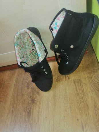 Buty trampki czarne 38