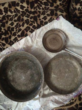 Сковородки советских времён под реставрацию