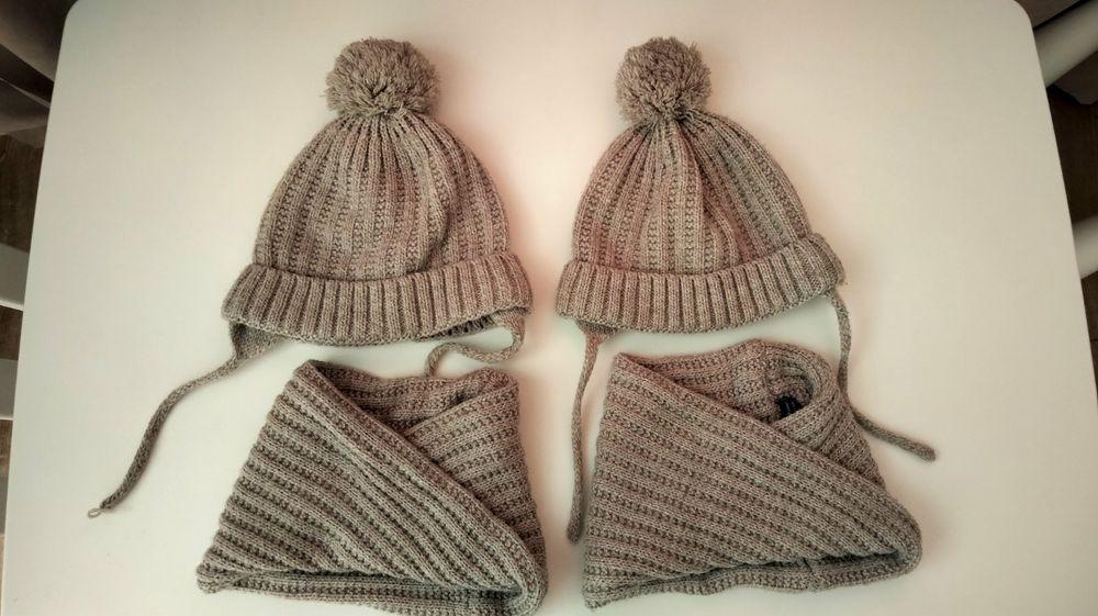 Комплектики (шапочка+хомут) Zara, Стрый - изображение 1