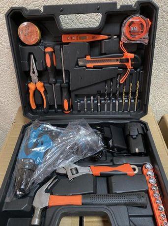 шуруповер Новый Makita 2 аккумулятора + инструменты 28in1