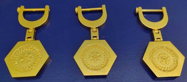"""Antiguidades- Medalhas de coleção - (três) """" Rotary Clube do Mónaco"""""""