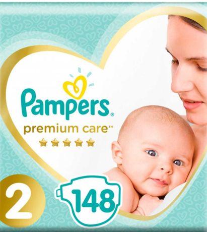 Подгузники Pampers Premium Care 2 74 шт. (4-8кг)1/2коробки=1 уп=74 шт.