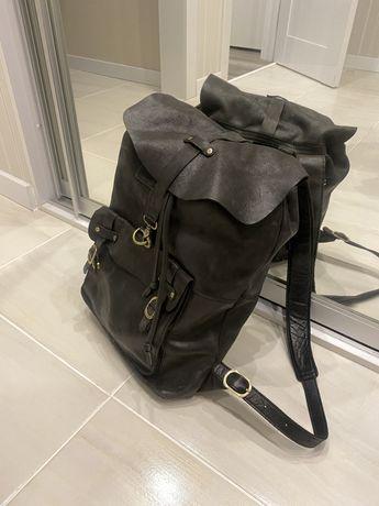 Мужской кожнаный рюкзак, чоловіча шкіряна сумка