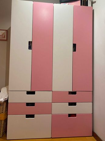 Armários c/bloco de gavetas e mesinha de cabeceira-criança Ikea