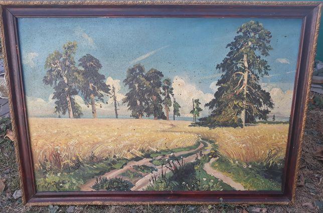 Старинная картина 1962 года.Большая.
