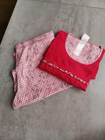 Piżama XL XXL czerwona kratka 42 44
