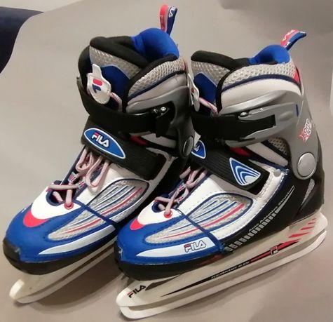 FILA łyżwy hokejowe regulowane. rozm 32 do 35 Jak nowe.