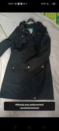 Czarny płaszczyk wiosenno- jesienny. Rozmiar 42