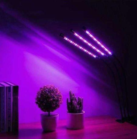 Фитолампа для Растений 30 вт Фитосветильник 3 в 1 Полный Спектр