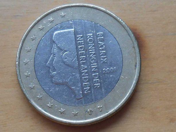 Moeda comemorativa 1€ BEATRIX KONINGIN DER NEDERLANDEN 2001 rara