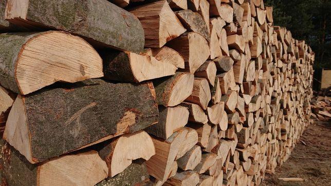Drewno Kominkowe opałowe Żagań Sezonowane DĄB JESION Akacja Transport