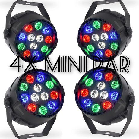 4x Nowy KOLOROFON MINI PAR 12 LED Disco RGBW sylwester 2020/2021