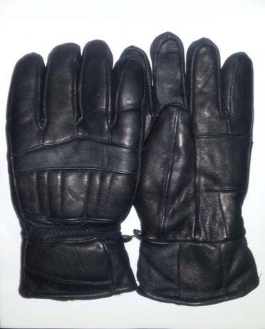 Кожаные перчатки на меху