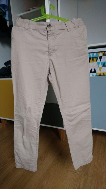 Spodnie 128 h&m chinos beżowe piaskowe