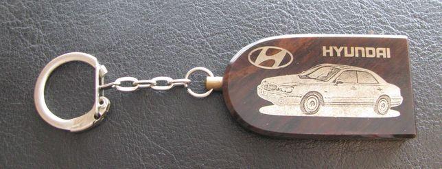 Брелок для ключей из обсидиана Обсидиан Хюндай Hyundai с молитвой
