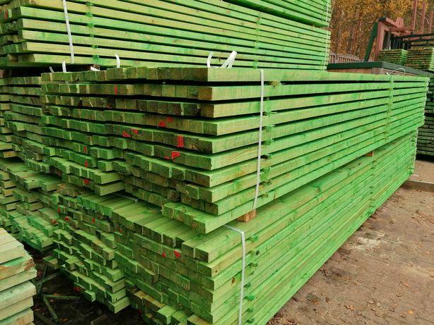 Łaty drewniane 6x4 kontrłaty 6x2,2 impregnowane