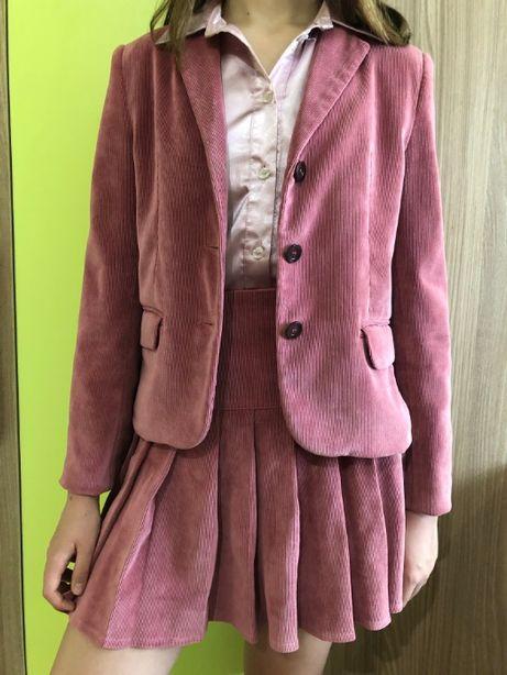 Школьная форма,на девочку 8-12 лет,костюм,тройка: пиджак,юбка,сарафан