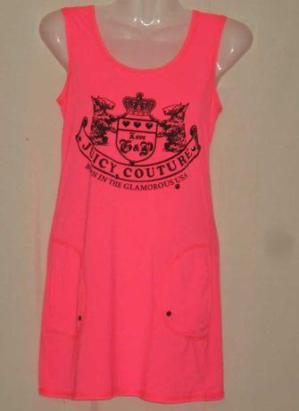 Платье - сарафан розовое. Мини. Прямое.  38 р-р. С карманами. Красивое