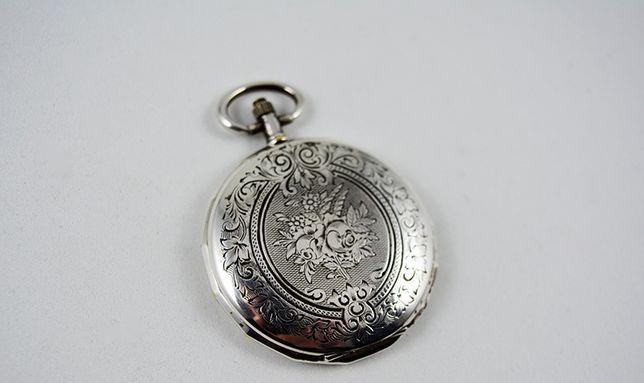 Relogio bolso muito antigo todo em prata