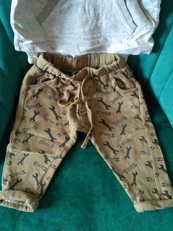 Dresy spodnie 5 10 15 r. 74