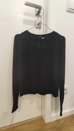 Camisola de malha preta