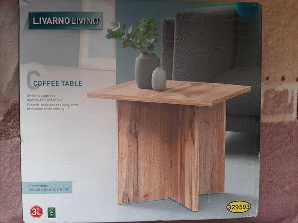 Nowy dębowy stół Stolik kawowy Livarno50 x 45 x 50 cm stoliczek ława