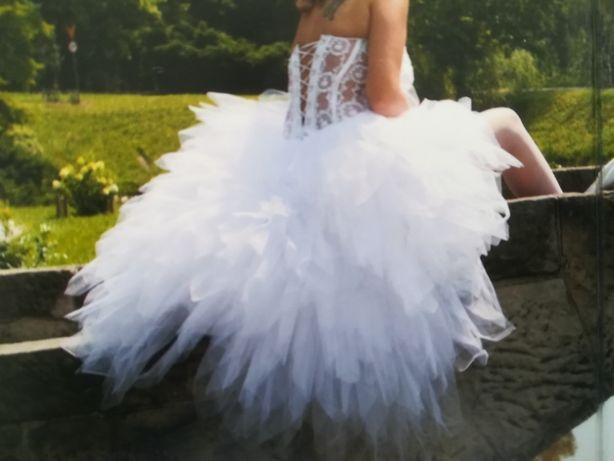 Suknia ślubna sposabella rozm 38/40 odpinany przód